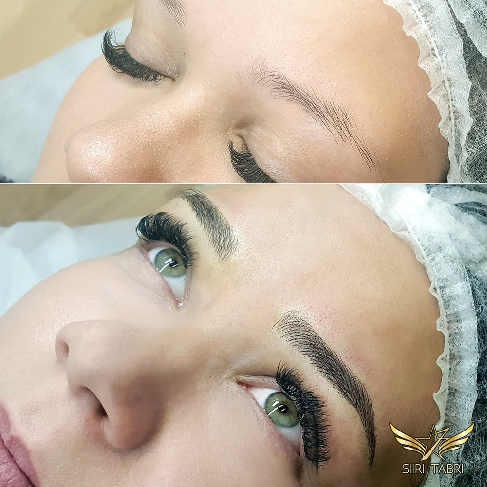 SharpBrows Light microblading. This is just another incredible change to the whole face by changing the brows.