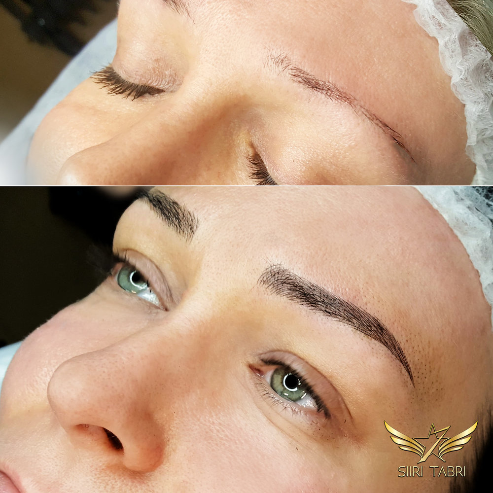 SharpBrows Light Microblading. Here is an example of how a brow is created practically from scratch. The initial situation was literally very weak.