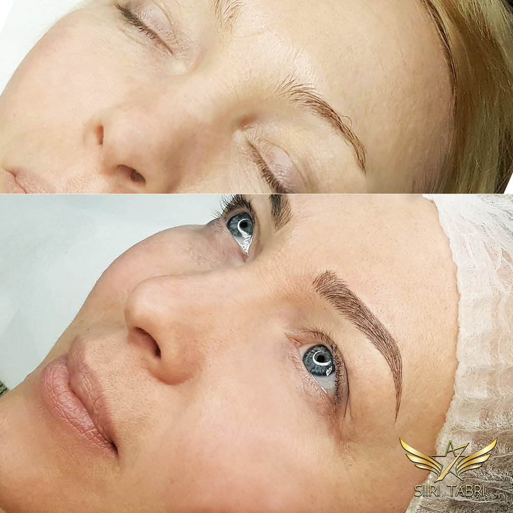SharpBrows Light microblading. Results of light microblading literally change the overall image of a human face to a large extent.