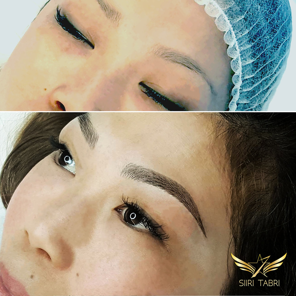SharpBrows Light microblading. A strong and natural looking brow created from very weal circumstances.