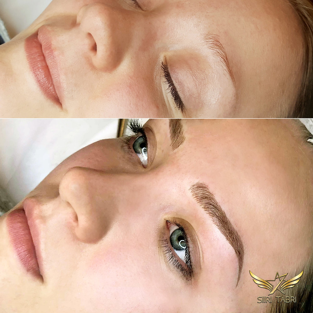 SharpBrows microblading. Just unbelievable change with the Light microblading technology.