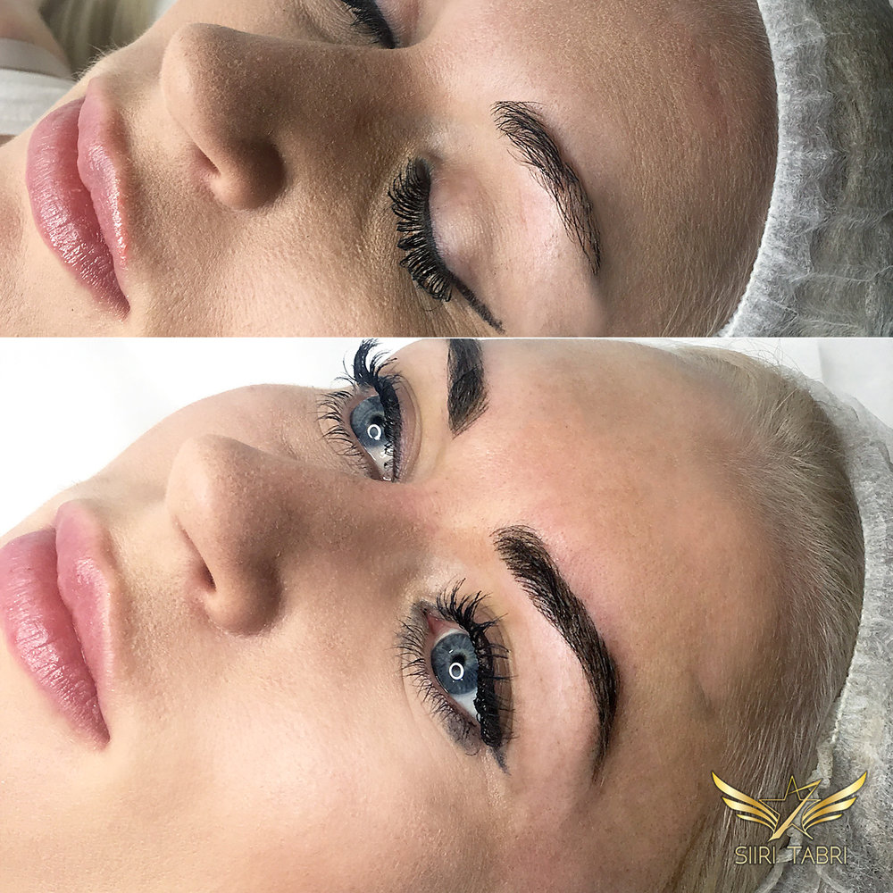 Light microblading - Small brow turned into lush and beautiful.