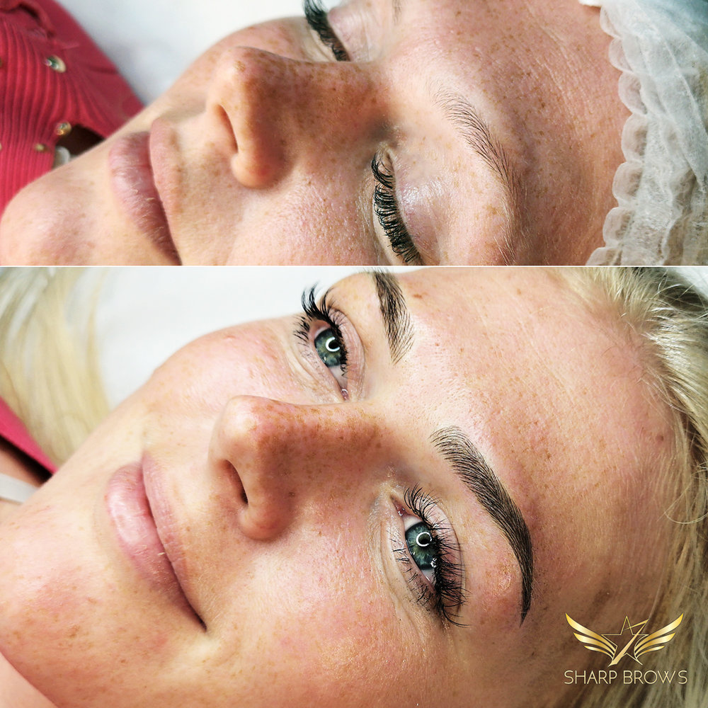 SharpBrows Light microblading - Excellent change in facial features and overall expression!
