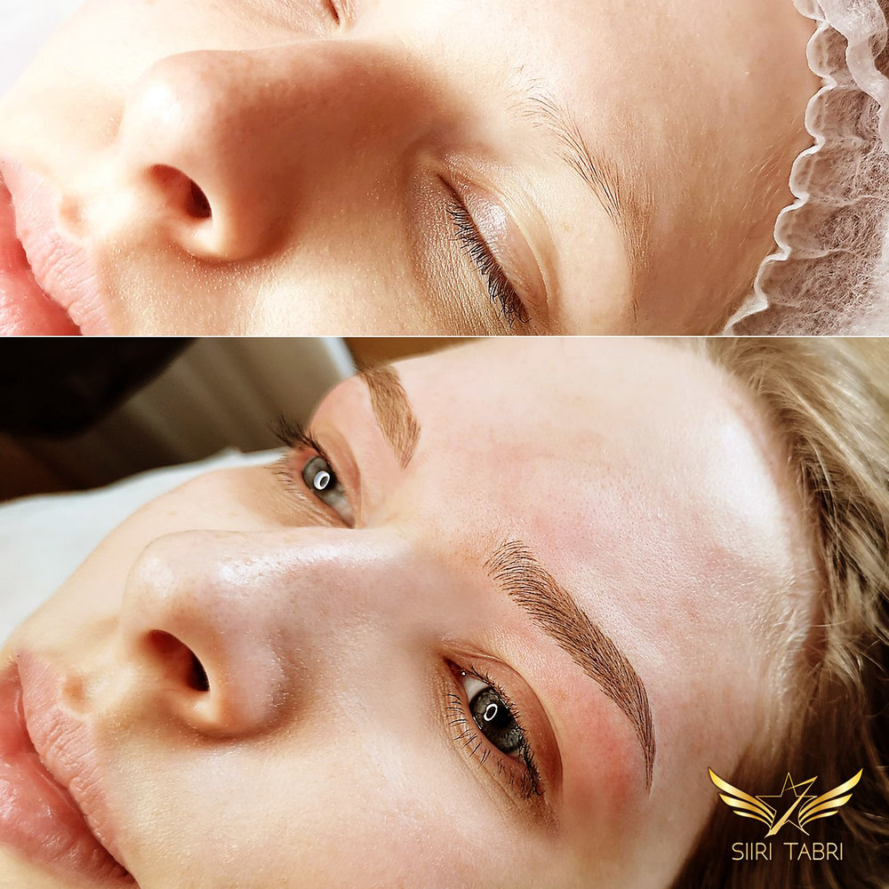 Light microblading - A correct brow shape + detailed pattern made with Light microblading is all you need to make this incredible change.