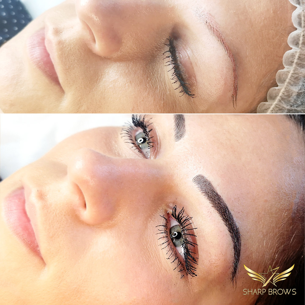 Light microblading. Just on result of fixing old microblading with Light microblading and shading.