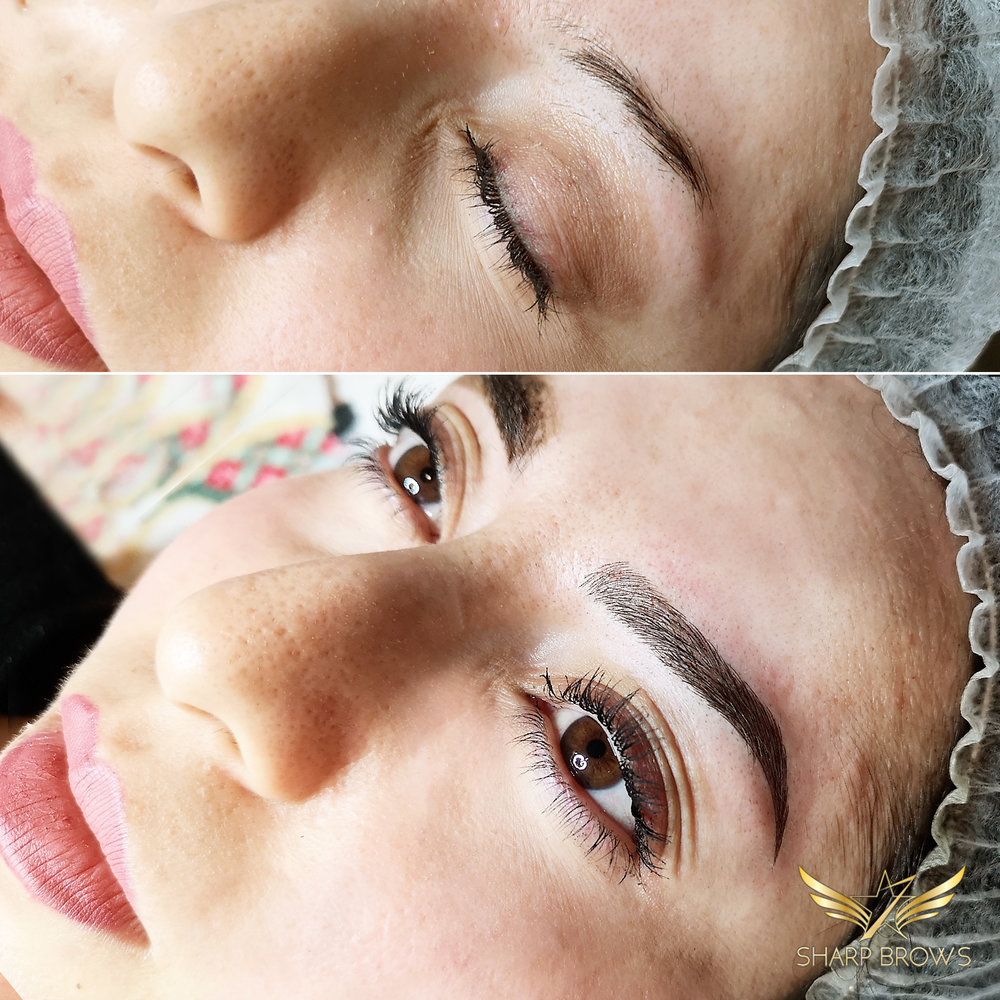 Light microblading. Another amazing change thanks to Light microblading. It's incredible.
