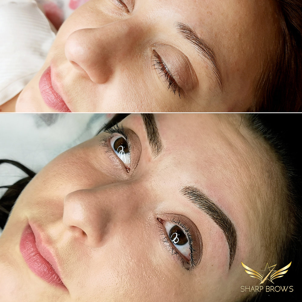 Light microblading. It is just incredible how perfect brows change the facial expression.