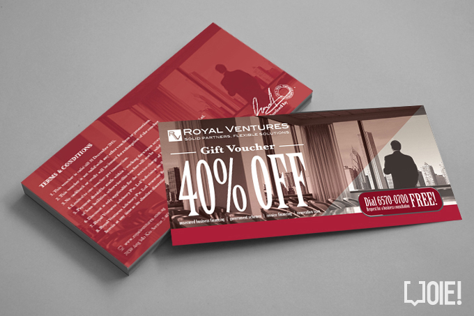 OIE! - Royal Ventures Voucher Design