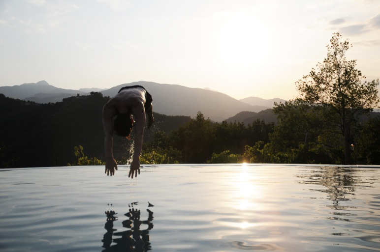 Diving into the Infinity Pool LA Collina del Sole