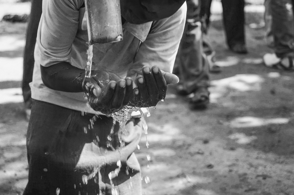 Along with the installation of the pump the project also contained an education element teaching the importance of washing hands and face to avoid common diseases which occur in areas where water is scarce and sanitation is inadequate.