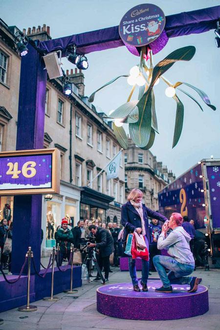 Giant Mistletoe, Cadbury Christmas Campaign