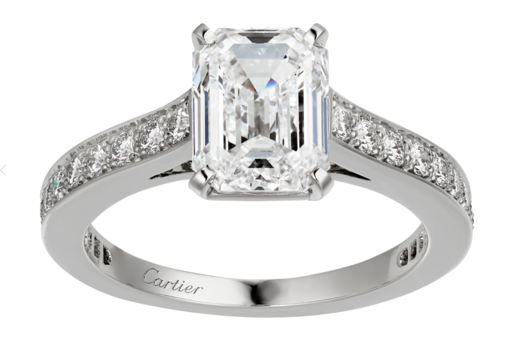 Engagement ring by Cartier