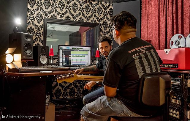 Working on the perfect sound with @elpinchiguey69 and @redlionaudio. THIS WILL BE EPIC!  #studio#recording#guitarist#hardwork#grind#music#musician#artist#espguitars#fender#rockstar#rock#bands#orlando#florida#miami#red#onset#film#documentary#musicislife#inabstractphotography#photooftheday#photographer#latin#funk#jazz#reggae