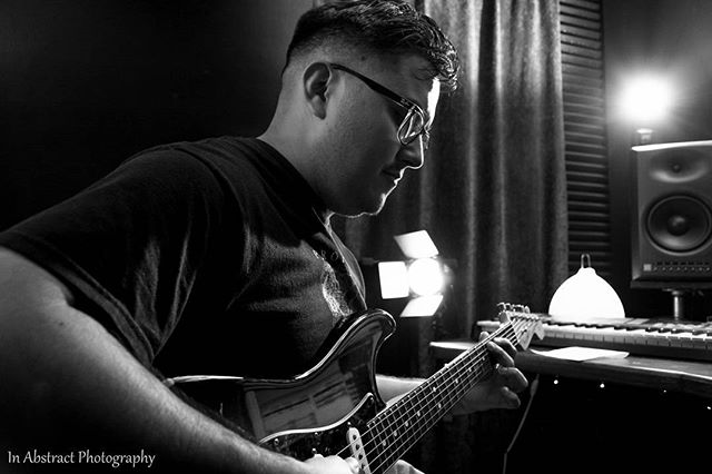 "Julian laying down ""Shatter"" in the studio! If you haven't heard our new single, Hear it now!!! Link in bio! #liquidspiral#inabstractphotography#blackandwhite#music#musician#artist#studio#recording#single#shatter#track#hardwork#motivation#play#playhard#guitarist#florida#new#rock#orlando#trendy"