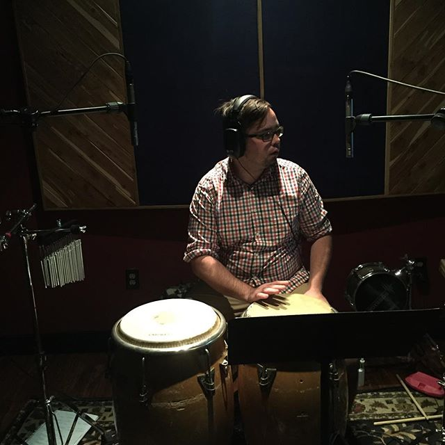 "Great musician and friend Mr @joeylannadrums recording percussion for  the ""Dreaming in away album"" #musician#liquidspiral#orlando#recording#studio#artist#percussion#latin#reggae#dreaminginaway#rock"