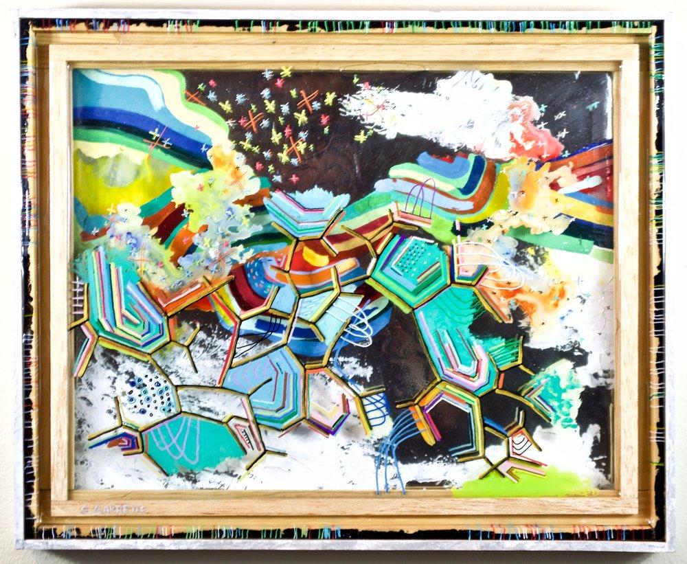 Mutual Coordinates Original Art Painting By Artist Scott Garrette Scott Garrette