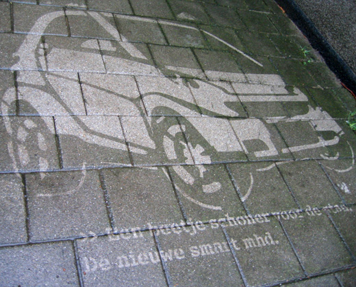 Reverse graffiti campaign for Smart
