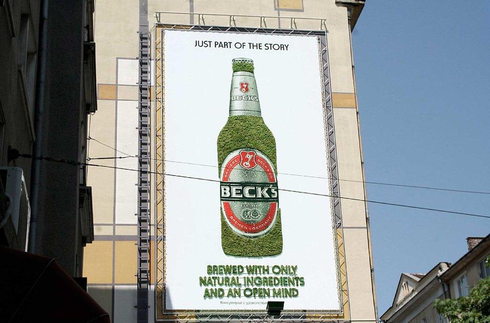 Living moss billboard produced by GreenGraffiti® Bulgaria