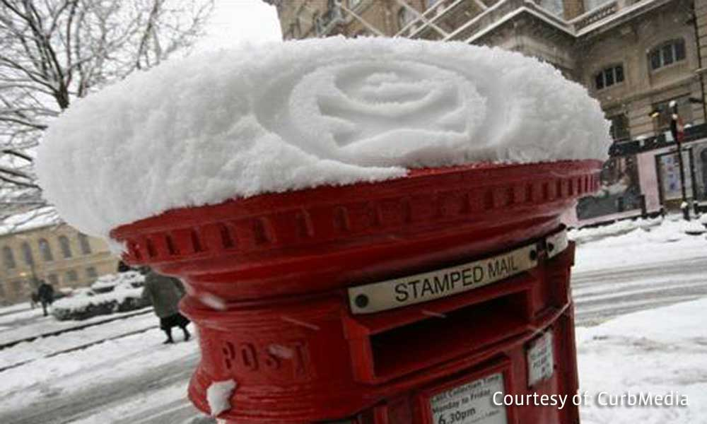 Snow stamping campaign produced by CurbMedia.