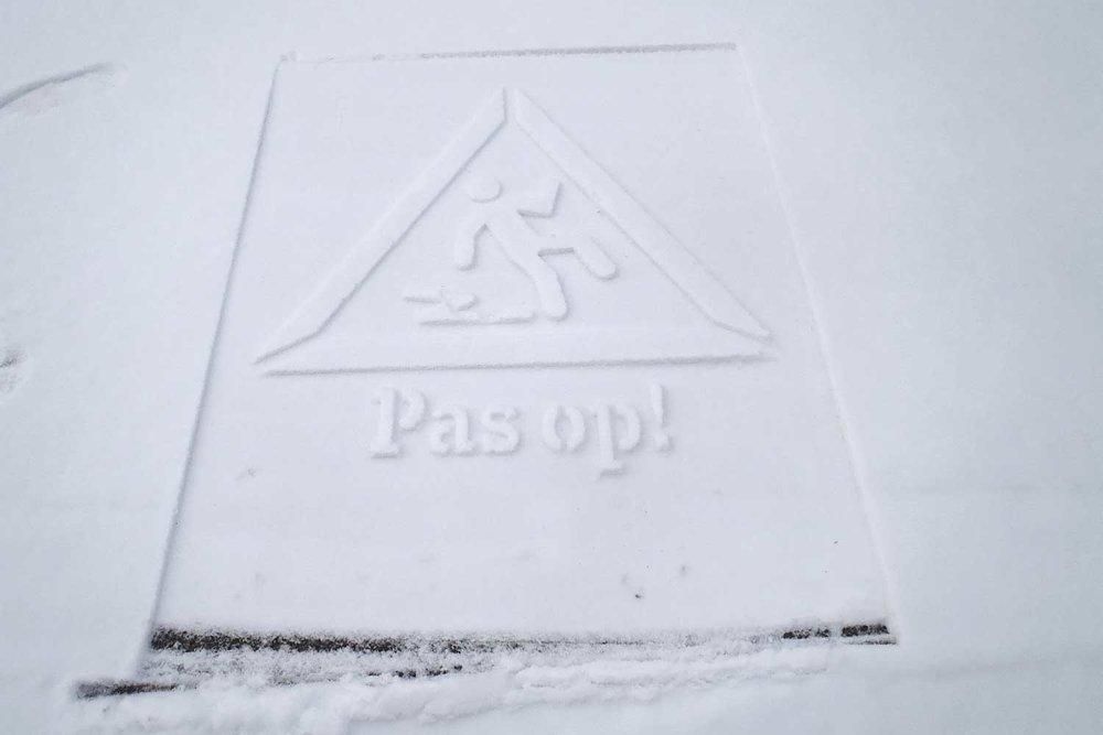 Snow stamping