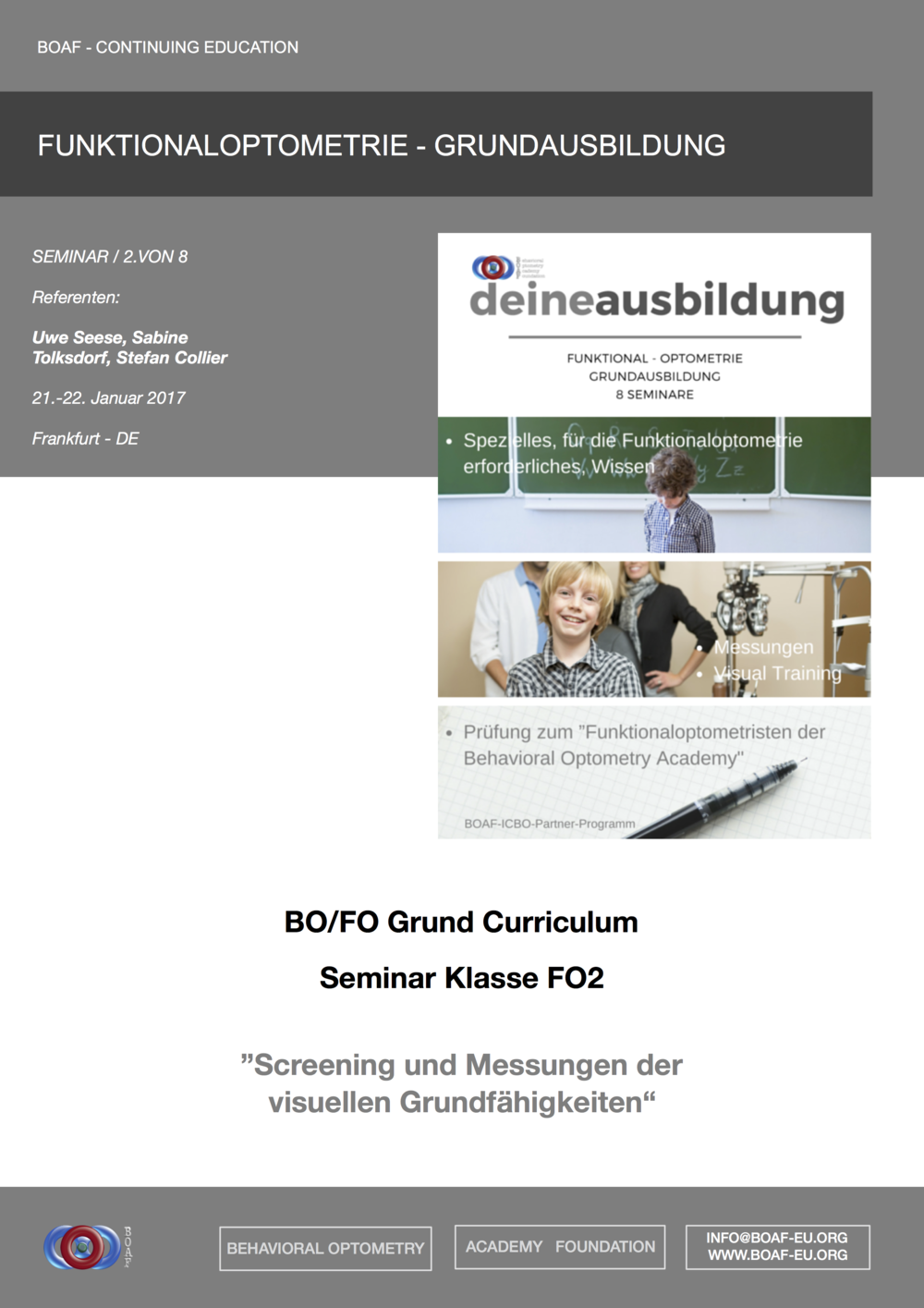 BOAF-Curriculum - Education Brochure -  German --->