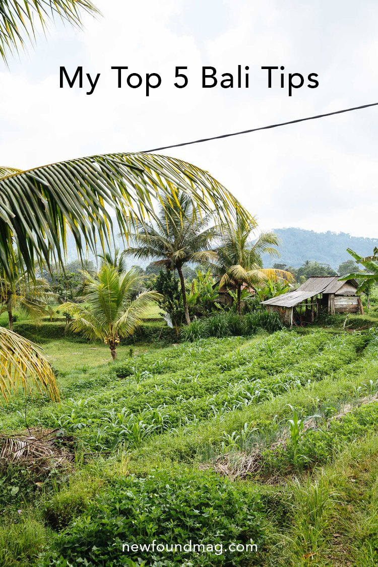 My Top 5 Bali Tips