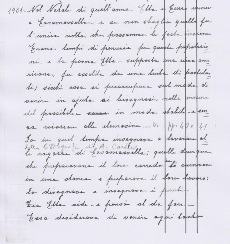 La creazione della Scuola di Casamassella nel racconto di Carolina de Viti de Marco