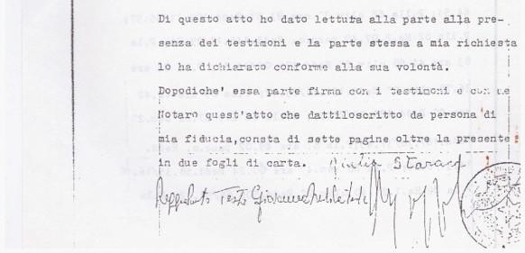 Le Costantine_DOCUMENTI_5_Primo atto costitutivo della Fondazione con firma di Giulia Starace_08