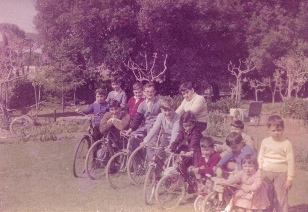 Le biciclette a Villa Pecorella