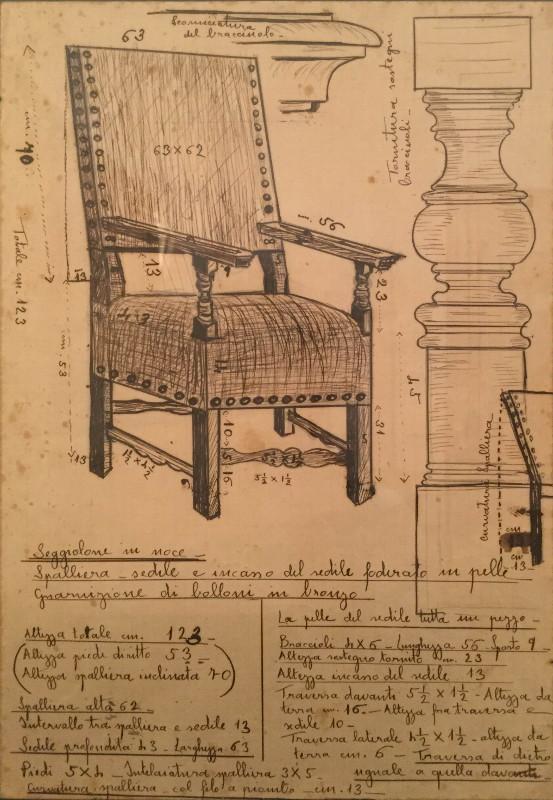 La sedia progettata da Lucia Starace