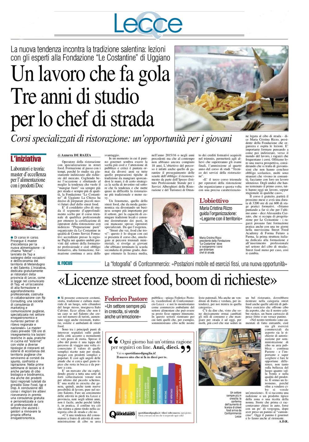 Nuovo Quotidiano di Puglia 24.01.2017