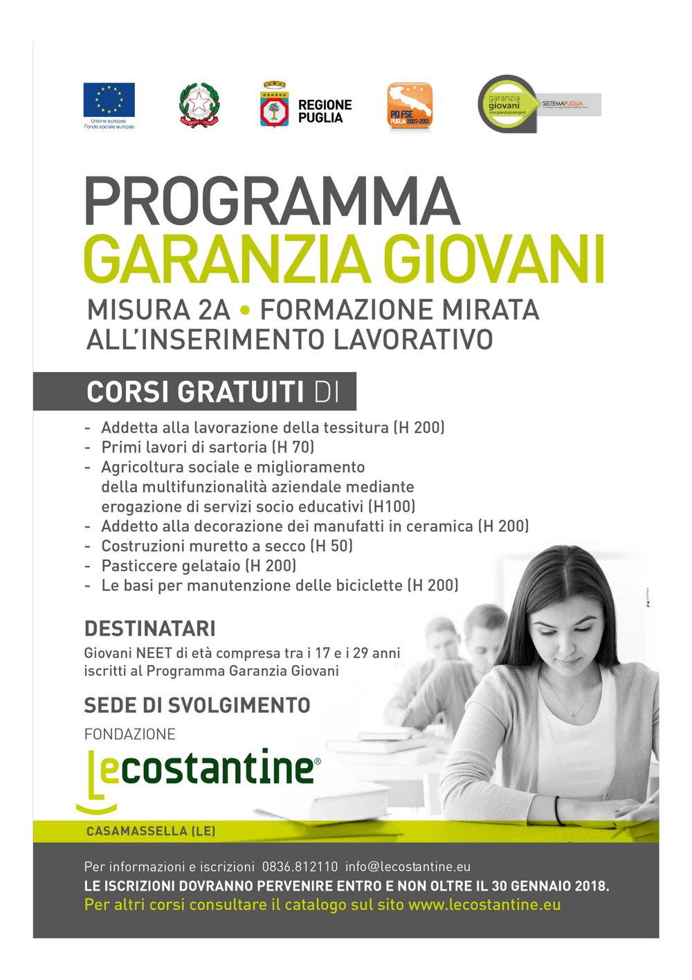 Programma Garanzia Giovani  Misura 2A - Formazione mirata all'inserimento lavorativo.jpg