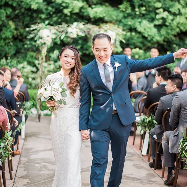 A day full of love with friends and family.  Photographer: @sallypineraphoto  Videographer: @emmalynncinema  Coordinator: @k.sageevents  Florals: @floralfete  DJ: @voxdjs Venue: @franciscangardens Hair and makeup: @veronica_savonnah Calligraphy: @wispyletters