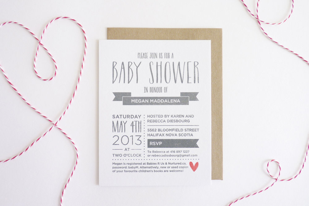 Bespoke baby shower sarah maude a mum to be who isnt a fan of cutesy animals or alphabet letters no problem this baby shower invite was designed to have a grown up feel filmwisefo