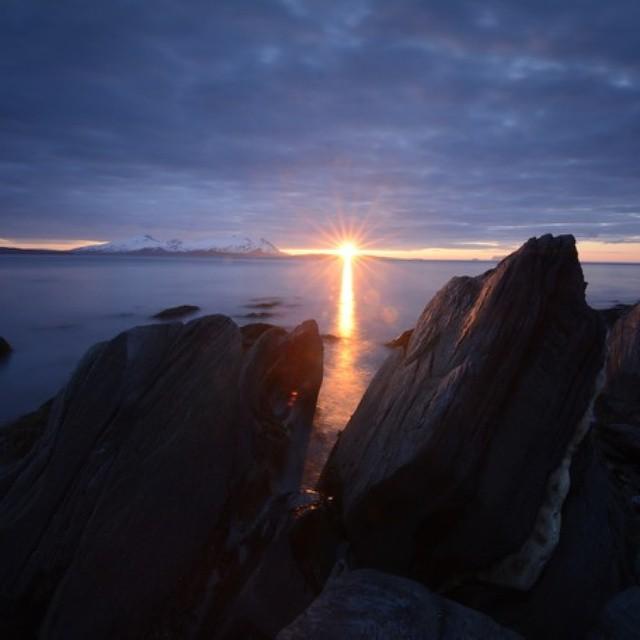 Midnattssola endelig tilbake😎#lyngenhavfiske #lyngen #fishing #midnattsol #opplevnorge #endeligsommer