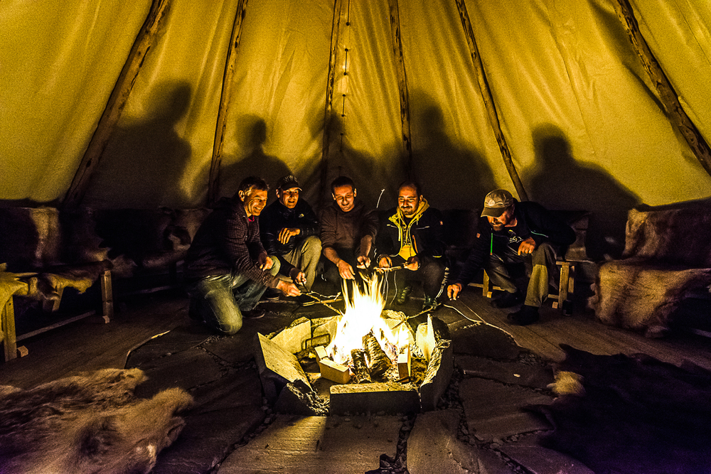 After a long day at your course or conference we offer you our lavvo as a social meeting place for relaxing and mingling. The lavvo is a traditional aboriginal/sami tent. ©Bjørn Joachimsen.