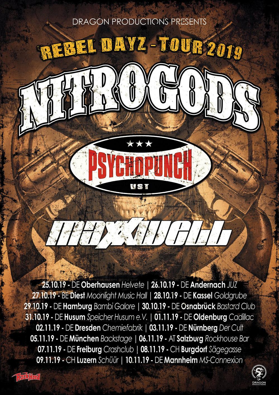Nitrogods & Psychopunch Tour 2019