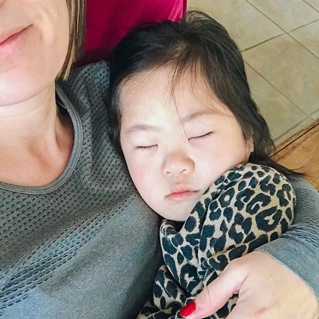 When you're sick all you want is mommy.  Please pray my sweet nugget (and all our kids) are healthy for Christmas! . . . . #downsyndromerocks #downsyndromelove #downsyndromeadoption #theluckyfew #lifeisbetterwithyou