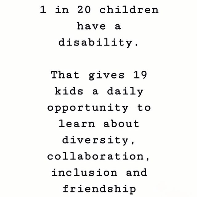 Mic drop.  Talk to your kids, teach them that it's ok to be different and that everyone wants to be included and to have friends!  I have found when children include my girls with special needs they end up being more compassionate, more patient, and they have a ton of fun too! . . . . . . #inclusionmatters #differentiscool #bekindalways #raisegoodhumans