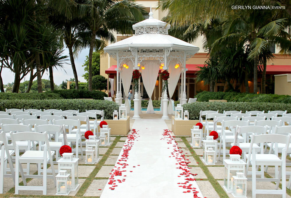 Wedding Ceremony Packages: Gerilyn Gianna Event And Floral Design-Palm Beach Wedding