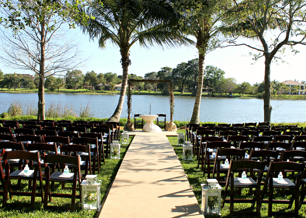 Palm Beach Wedding Ceremony Decor