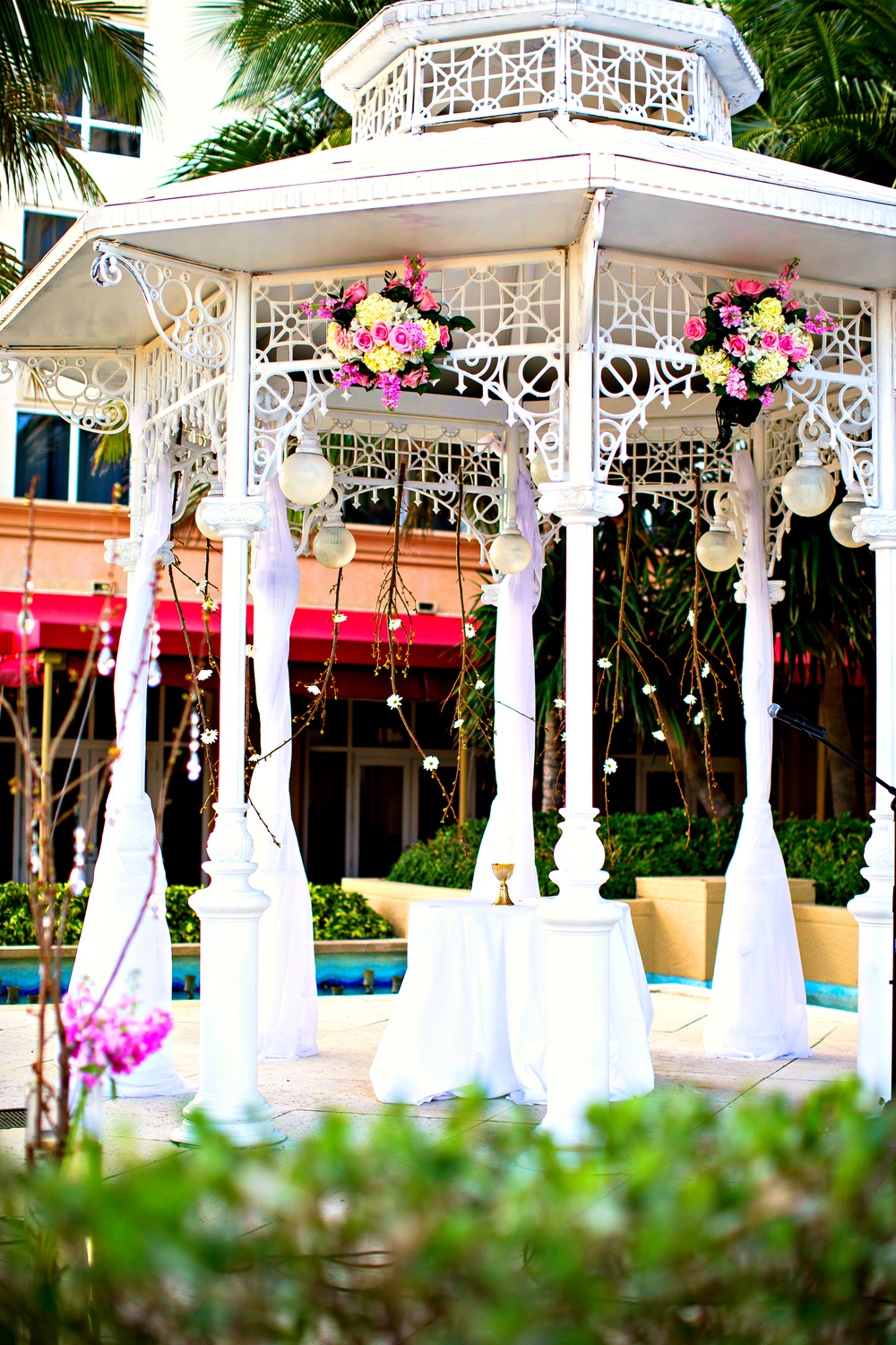 Marriott Singer Island Resort Wedding Ceremony Decor