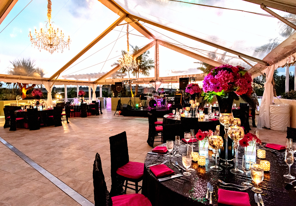 Wyndham Grand Jupiter Wedding Reception Decor