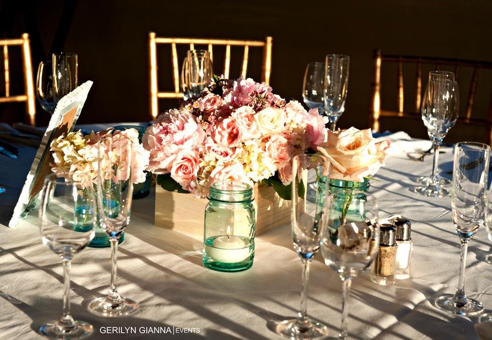 Palm beach wedding floral decor gorgeous centerpieces