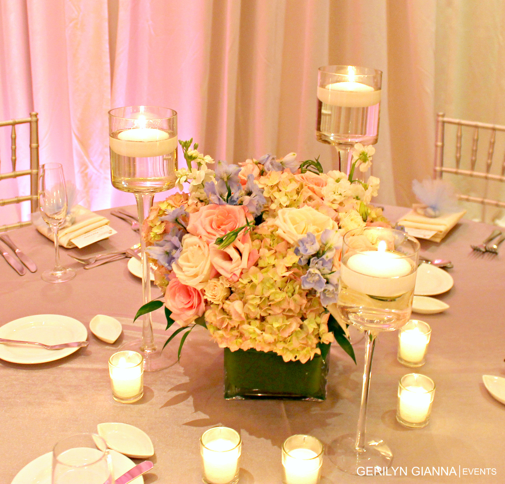Beach Centerpieces With Flowers : Palm beach wedding floral decor gorgeous centerpieces