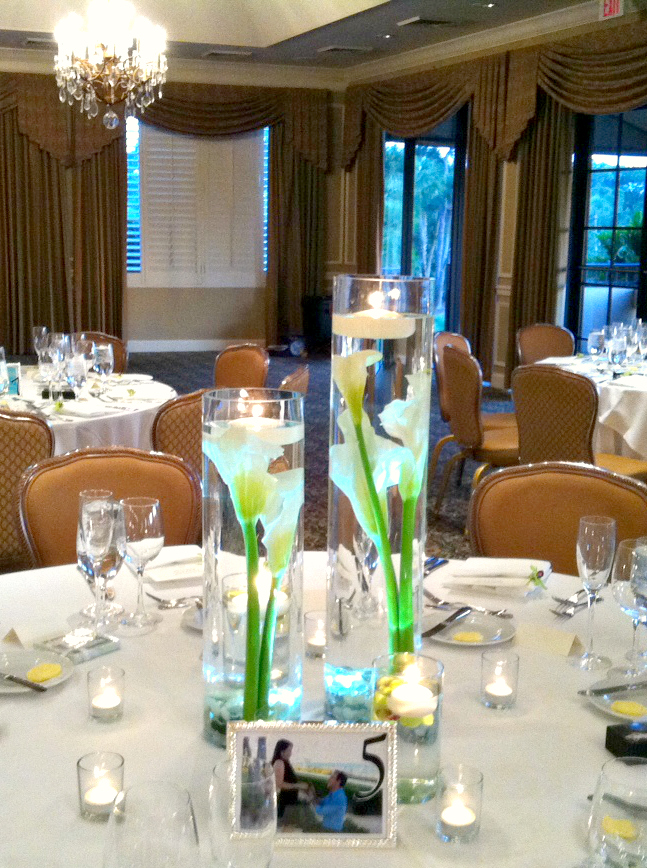Submerged Floral Arrangements | Palm Beach Weddings | Gerilyn Gianna Event Design