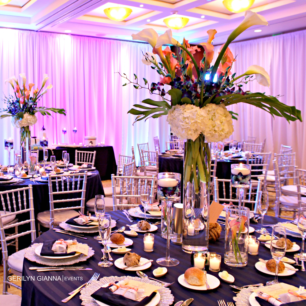 Tall Floral Centerpieces | Palm Beach Wedding and Event Flowers | Gerilyn Gianna Event and Wedding Design Services