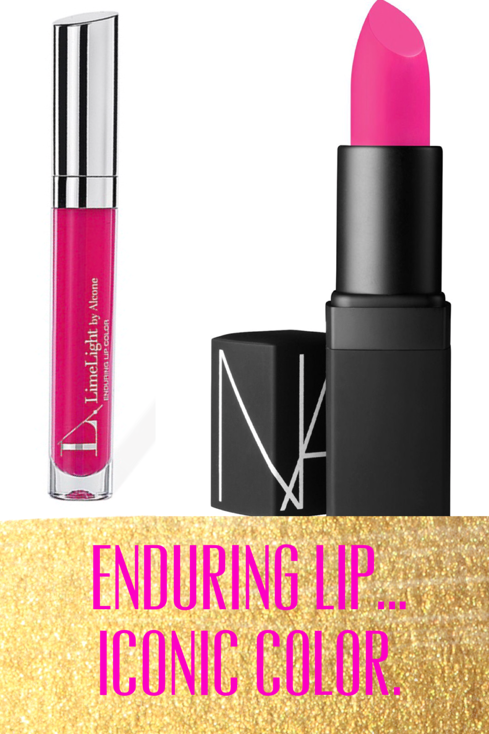 LimeLight by Alcone Enduring Lip in Cupcake ($20) & NARS in Schiap ($28)