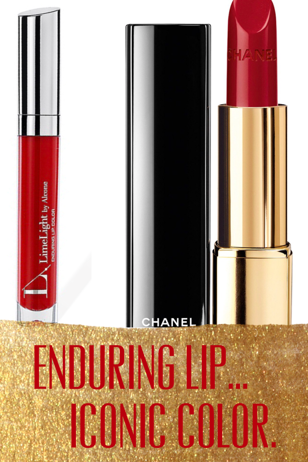 Limelight by Alcone Enduring Lip in Cherry Pie ($20) & Chanel in Pirate ($37)