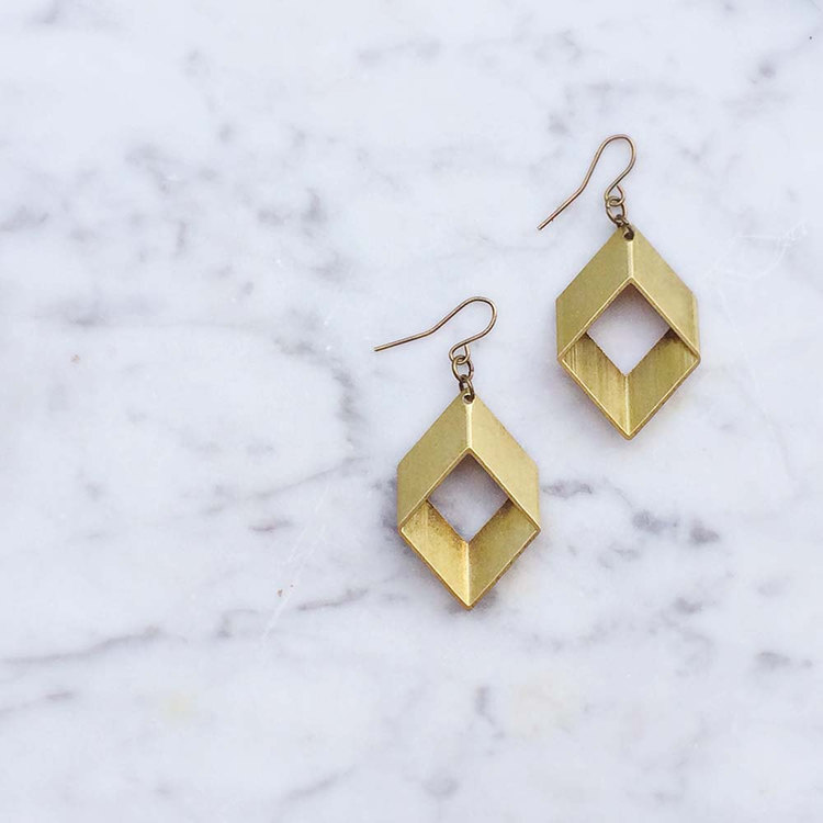 Rhombus Earrings | Retail $22